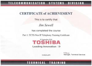 Toshiba Cerifications